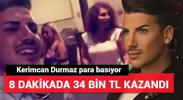 Kerimcan Durmaz 8 dakikada 34 bin TL kazandı