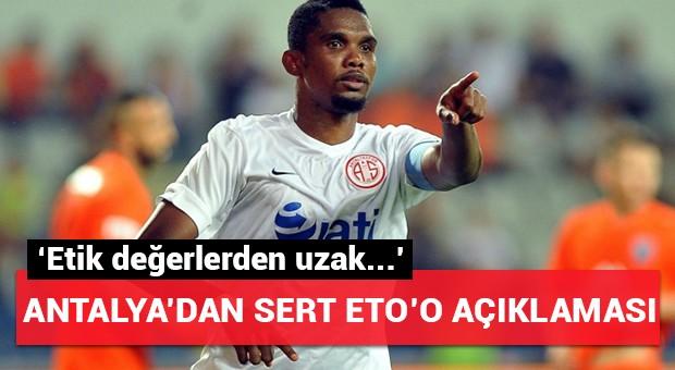 Antalyaspor'dan Beşiktaş'a Eto'o tepkisi