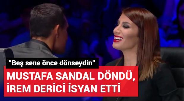 Mustafa Sandal döndü, İrem Derici isyan etti!