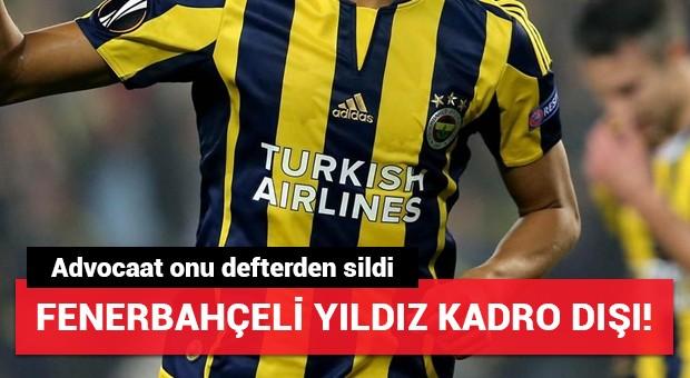 Fenerbahçeli yıldız kadro dışı! Advocaat onu defterden sildi...
