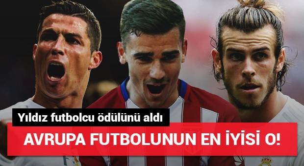 Avrupa futbolunun en iyisi o! Yıldız futbolcu ödülünü aldı