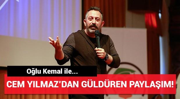 Cem Yılmaz'dan oğlu Kemal ile güldüren paylaşım!