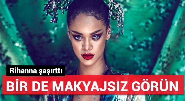 İşte Rihanna'nın makyajsız hali