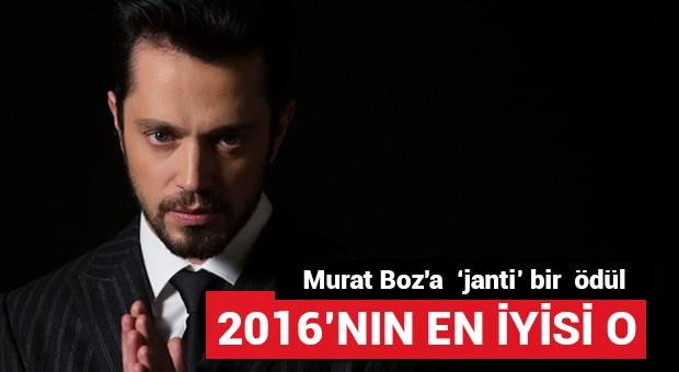 Murat Boz'a  'janti' bir  ödül