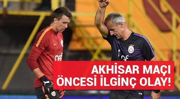 Akhisar-Galatasaray maçı öncesi ilginç olay!