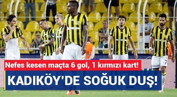 Kadıköy'de 6 gol 1 kırmızı kart!