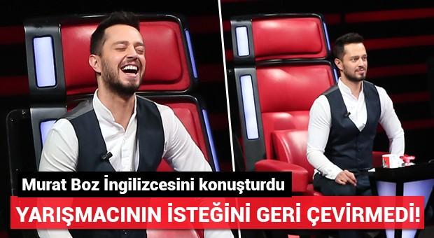 Yarışmacı istedi Murat Boz İngilizce konuştu!