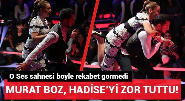 Murat Boz, Hadise'yi zor durdurdu!