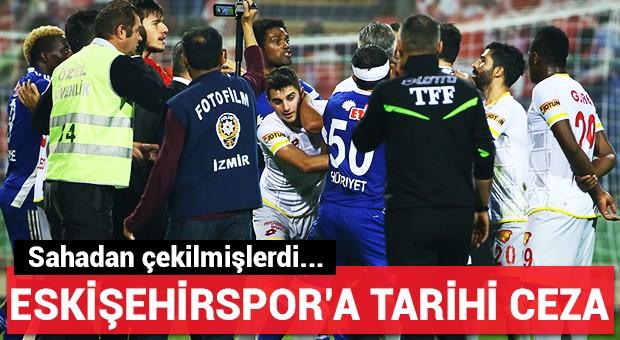 Eskişehirspor'a tarihi ceza resmen açıklandı!