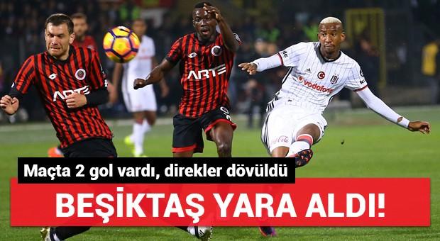 Beşiktaş yara aldı! Maçta 2 gol vardı, direkler dövüldü...