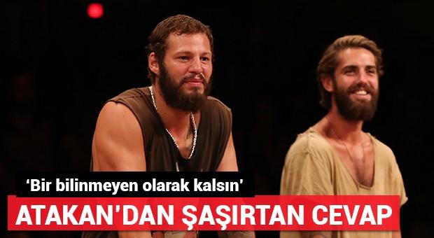 Atakan, Nagihan ile aralarının nasıl olduğu sorusuna cevap verdi: 'Bir bilinmeyen olarak kalsın!'