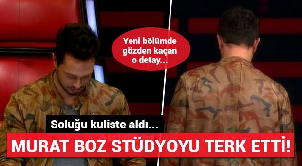Murat Boz stüdyoyu terk etti! Soluğu kuliste aldı...