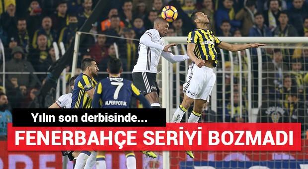 Fenerbahçe Kadıköy serisini bozmadı