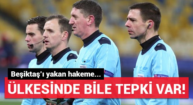 Beşiktaş'ı yakan hakeme ülkesi İskoçya'dan bile tepki var!