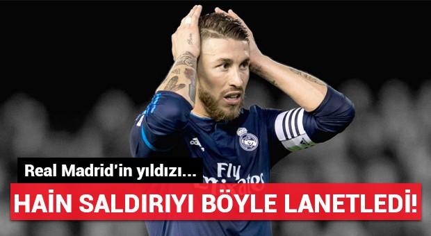 Real Madrid'in yıldızı hain saldırıyı böyle lanetledi!