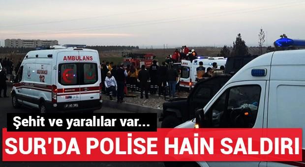Sur'da polise hain saldırı!