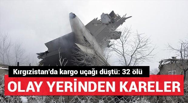 Kırgızistan'da Türk kargo uçağı düştü: 32 ölü, 4 yaralı