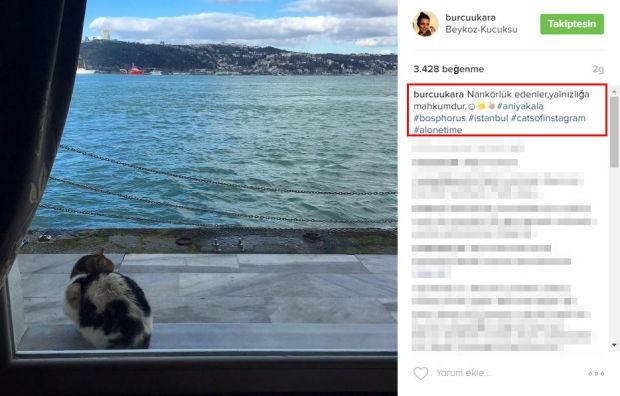 Burcu Kara Instagram hesabından yaptığı paylaşımla tepki çekti