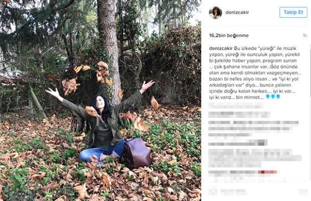 Eşkıya Dünyaya Hükümdar Olmaz dizisinin yıldızı Deniz Çakır Instagram hesabı üzerinden ilginç bir paylaşım yaptı
