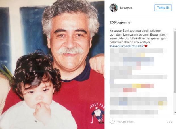 Levent Kırca'nın kızı Ayşe Kırca, babasının ölüm yıl dönümünü bu sözlerle hatırladı