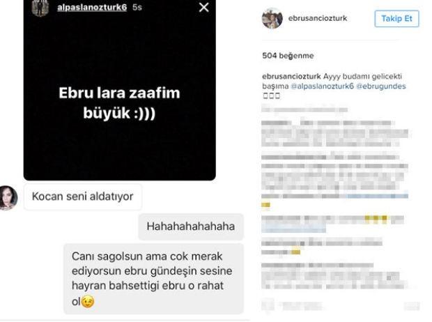 Model ve oyuncu Ebru Şancı, futbolcu eşi Alpaslan Öztürk ile ilgili kendisine gelen bir mesajı sosyal medya hesabından paylaştı