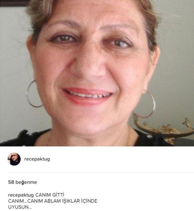 Aşk-ı Memnu dizisinin Hilmi Önal'ı oyuncu Recep Aktuğ, ablasını kaybetti.  Ünlü oyuncu acı haberi Instagram sayfasına yazdığı