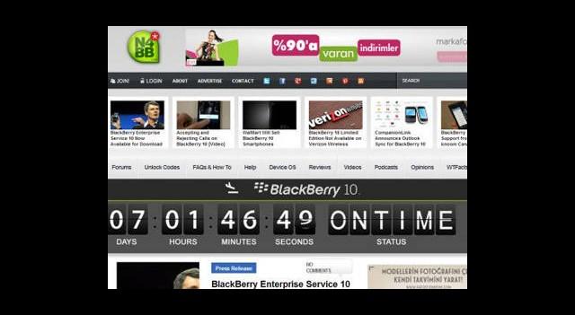 Blackberry 10 X10'nun Çıkış Tarihi Kesinleşti!