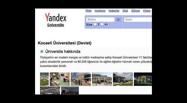 Yandex'ten Üniversite Rehberi