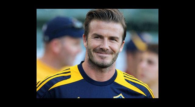 Beckham Arsenal İdmanında