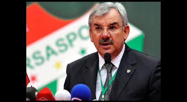 Bursaspor Başkanı Recep Bölükbaşı'ndan açıklama