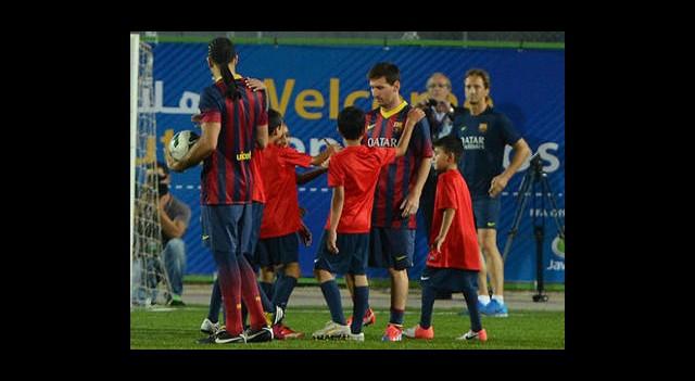 Filistinli Çocuklardan Messi'ye İlgi