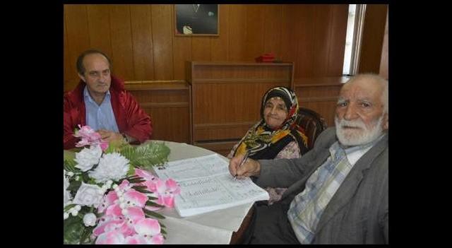 90 yaşında 6. kez nikah masasında