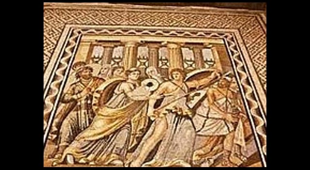 Zeugma mozaikleri ABD'de yerlerde!