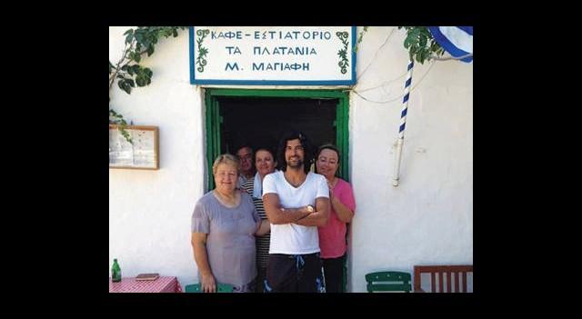 Engin Akyürek Yunan Adası'nda Ortaya Çıktı!