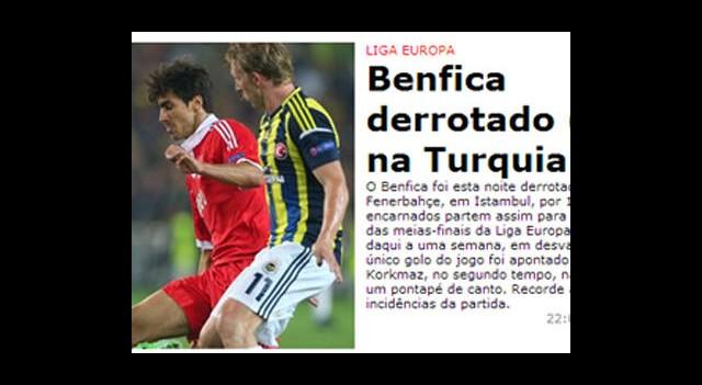 Fenerbahçe Galibiyeti Dış Basında!