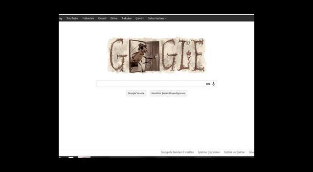 Google'dan Franz Kafka İçin Özel Doodle