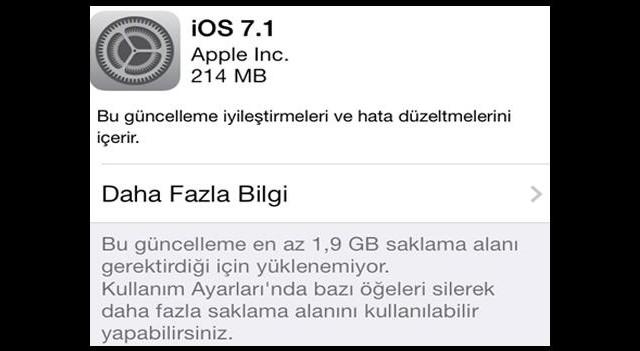 İOS 7.1 güncellemesi yayınlandı!