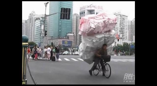 Bisikletini fazla yükleyince...