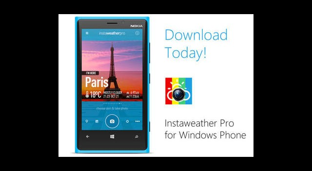 InstaWeather Uygulaması Windows Phone'a Geldi