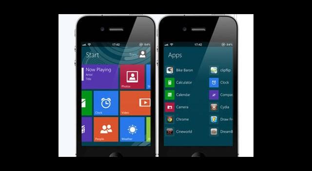 iPhone Üzerinde Windows 8 Metro Arayüzünü Çalıştırın