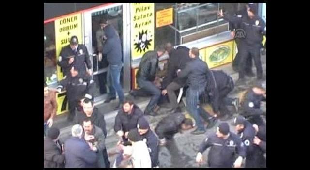 İtfaiyeci İle Polis Arasında Kavga
