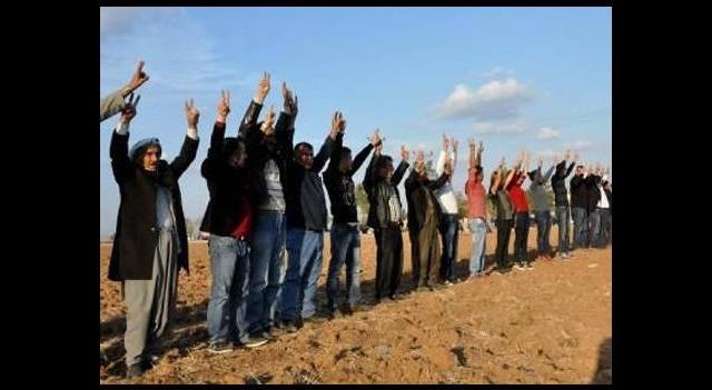 Kobani sınırında hareketli dakikalar