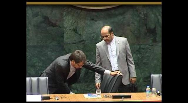 Ruhani'nin konuşacağı salonda koltuk krizi