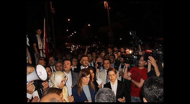 Vekillerden İsrail protestosu