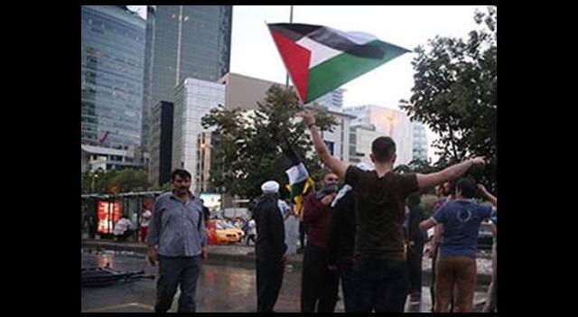 Bir plaza çalışanının İsrail isyanı!