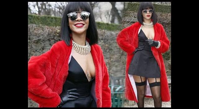 Fransızlar aşka geldi... O la la Rihanna!