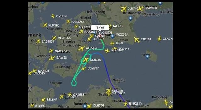 THY uçağı rota değiştirdi