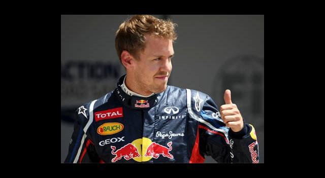 Pole Pozisyonu Sebastian Vettel'in!