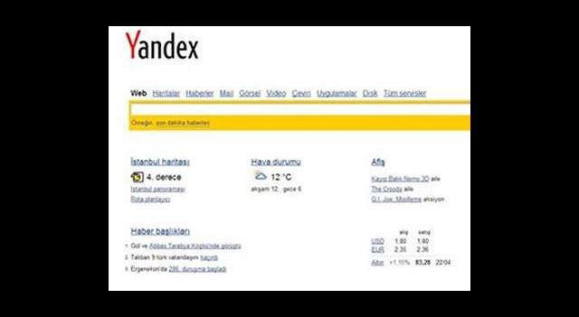Yandex Pazar Payını İkiye Katlamak İstiyor