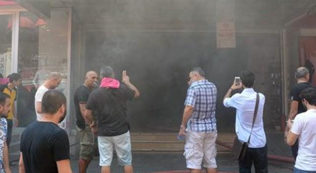 Beşiktaş Çarşıda yangın paniği